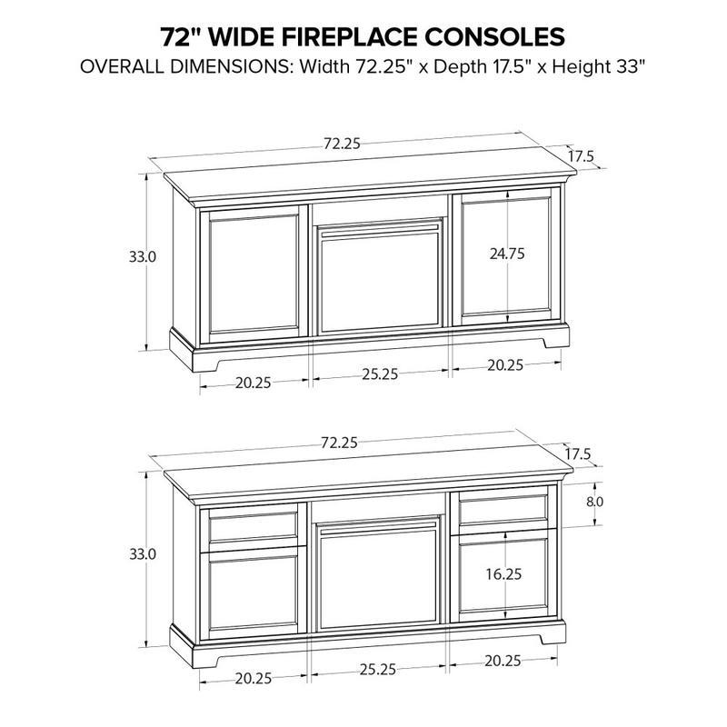 FP72J Fireplace Custom TV Console