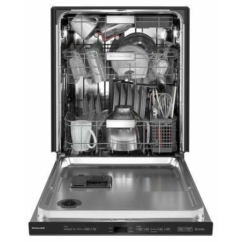 KitchenAid - 44 dBA Dishwasher with FreeFlex™ Third Rack and LED Interior Lighting - Black Stainless Steel with PrintShield™ Finish