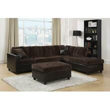 Mallory Casual Dark Chocolate Ottoman