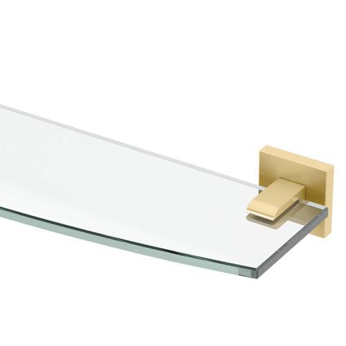 Elevate Glass Shelf in Matte Black