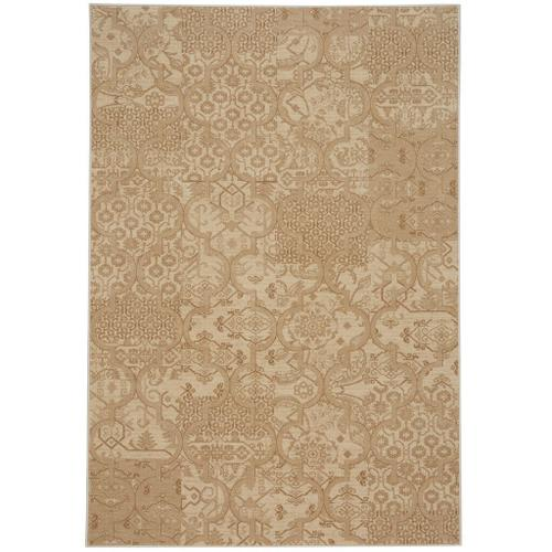 """Capel Rugs - Metropolis-Sojourn Portico Beige - Rectangle - 3'11"""" x 5'6"""""""
