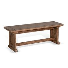 Doe Valley Side Bench w/ Wood Seat