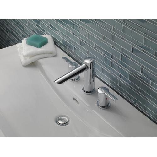 Chrome Two Handle Widespread Bathroom Faucet
