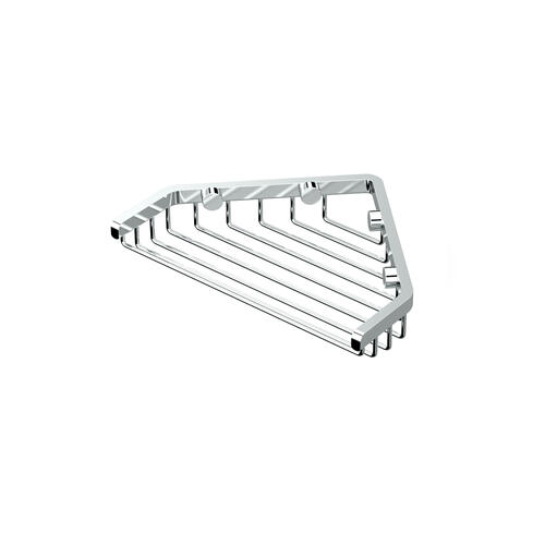 "Corner Shower Basket 7""W in Chrome"