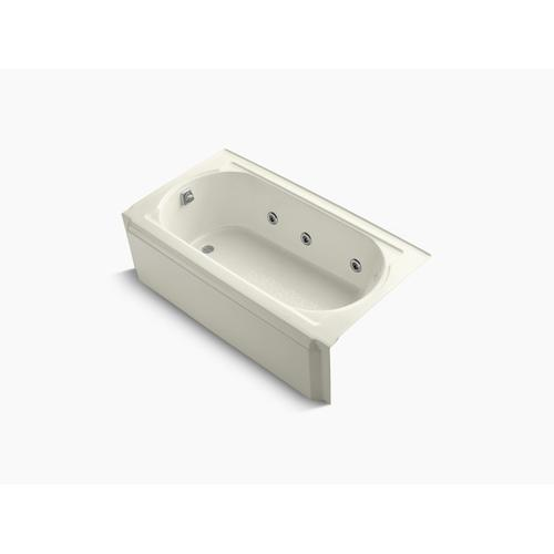 """Biscuit 60"""" X 34"""" Alcove Whirlpool With Left-hand Drain and Heater Without Jet Trim"""