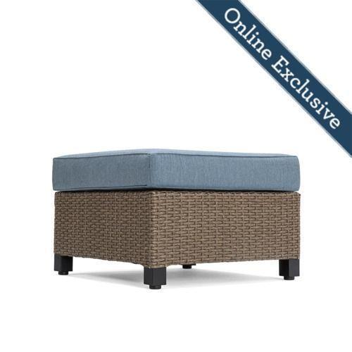 Nolin Cushioned Ottoman w/ Blue Cushion