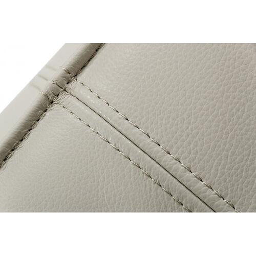 VIG Furniture - Divani Casa April - Modern Light Grey Leather Square Ottoman
