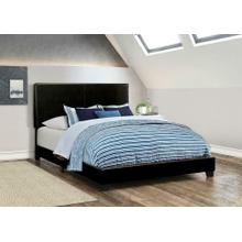 Product Image - Dorian Black Faux Leather Upholstered Full Bed