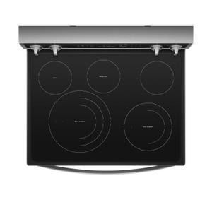 Whirlpool  6.4 cu. ft. Smart Freestanding Electric Range with Frozen Bake™ Technology Fingerprint Resistant Stainless Steel