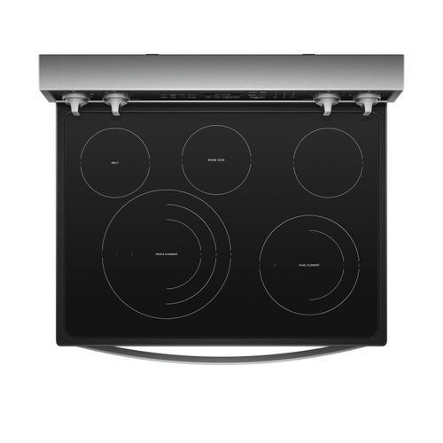 Whirlpool - 6.4 cu. ft. Smart Freestanding Electric Range with Frozen Bake™ Technology Fingerprint Resistant Stainless Steel