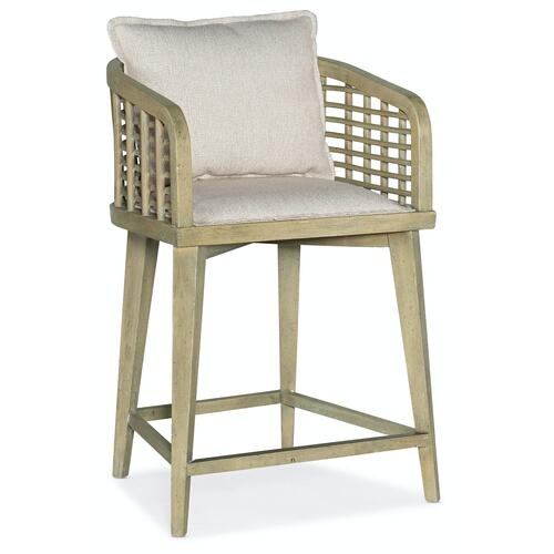 Dining Room Surfrider Barrel Back Counter Stool