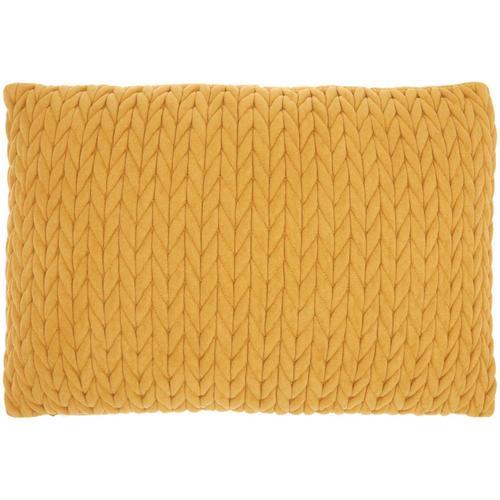 """Life Styles Et299 Yellow 14"""" X 20"""" Throw Pillow"""