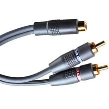 Monster Standard Interlink Junior Audio Y-Adapter Cable - 6 in. M to 2F