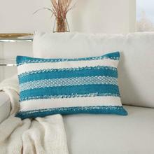 """Outdoor Pillows Vj088 Turquoise 14"""" X 22"""" Throw Pillow"""
