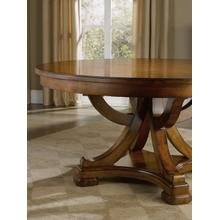 View Product - Tynecastle Round Pedestal Dining Table with One 18'' Leaf