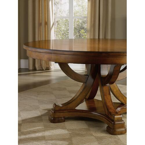 Hooker Furniture - Tynecastle Round Pedestal Dining Table with One 18'' Leaf