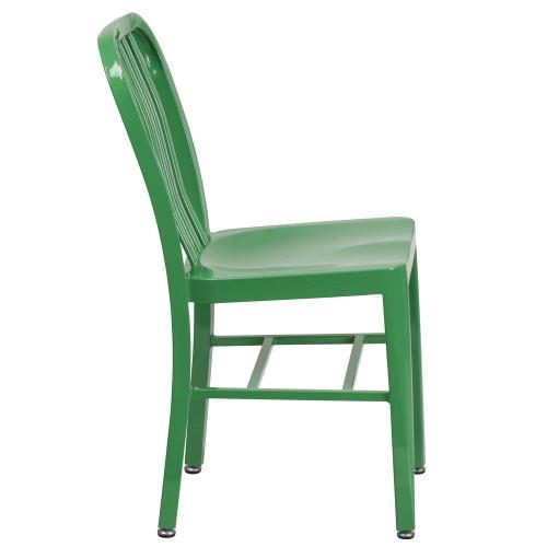 Green Metal Indoor-Outdoor Chair