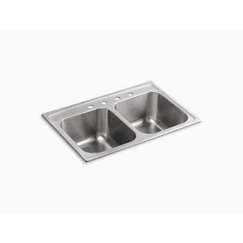"33"" X 22"" X 9-1/4"" Top-mount Double-equal Kitchen Sink"