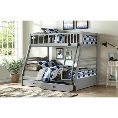 ACME Jason Bunk Bed (Twin/Twin & Storage) - 37840 - Gray