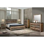 Sembene Bedroom Rustic Antique Multi-color California King Five-piece Set Product Image