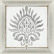 Brocade in White I