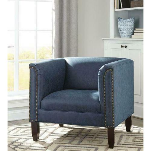 Product Image - Transitional Dark Blue and Cappuccino Accent Seating