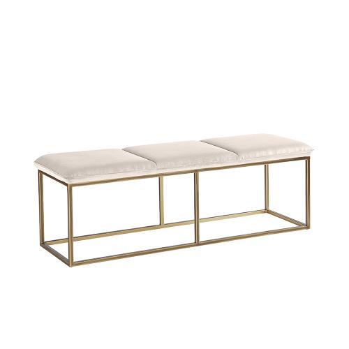 Sunpan Modern Home - Alley Bench - fabric: piccolo prosecco