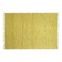 Product Image - 4' x 6' Hand-Woven Jute & Chenille Rug w/ Fringe, Chartreuse