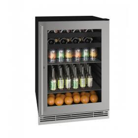 "Hbv124 24"" Beverage Center With Stainless Frame Finish (115v/60 Hz Volts /60 Hz Hz)"