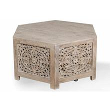 View Product - CROSSINGS EDEN Hexagonal Cocktail Table