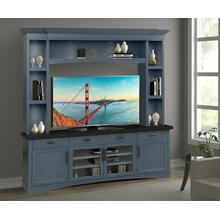 AMERICANA MODERN - DENIM 92 in. TV Console with Hutch and LED Lights