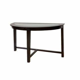 ACME Kort Sofa Table - 18459 - Espresso & Clear Glass