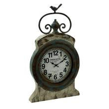 "METAL TABLE CLOCK 17""W, 30""H"