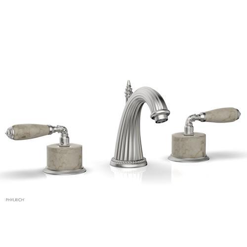 VALENCIA Widespread Faucet Beige Marble K338D - Satin Chrome