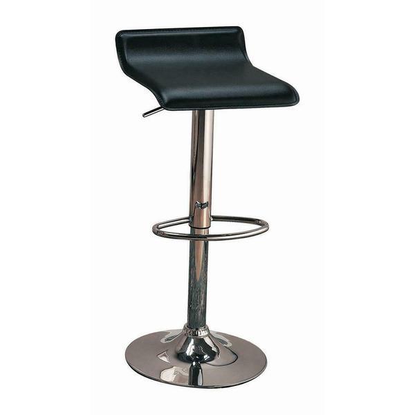 See Details - Contemporary Black Adjustable Bar Stool