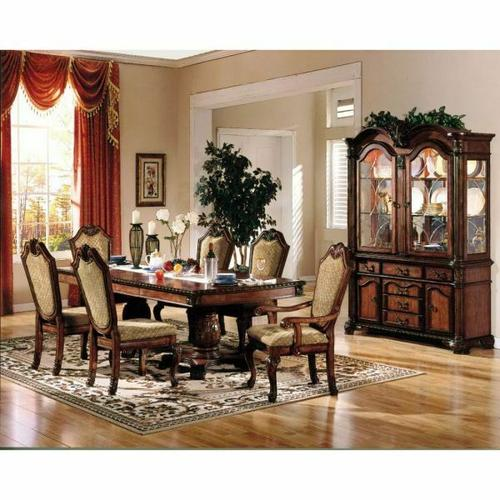 ACME Chateau De Ville Dining Table w/Double Pedestal - 04075 - Cherry