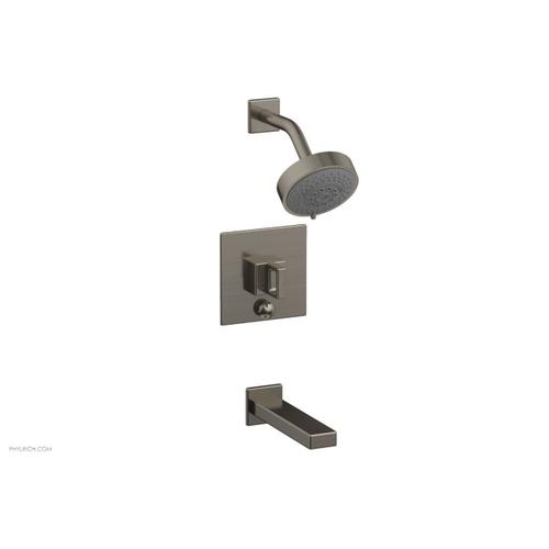 MIX Pressure Balance Tub and Shower Set - Ring Handle 290-28 - Pewter