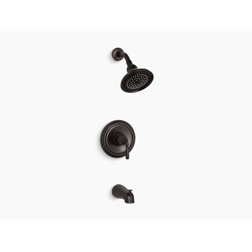 Kohler - Oil-rubbed Bronze Rite-temp Bath and Shower Trim With Npt Spout and 2.5 Gpm Showerhead