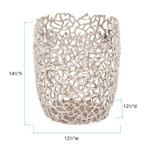Howard Elliott - Silver Aluminum Branch Basket, Large