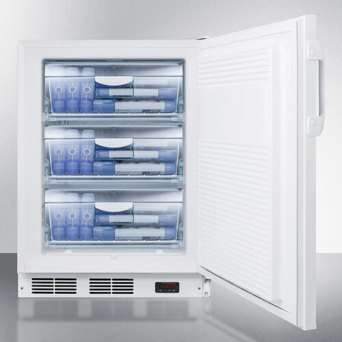 Commercial Freestanding Medical All-freezer Capable of -25 C Operation, With Removable Basket Drawers, Lock, and 32 Height for ADA Counters