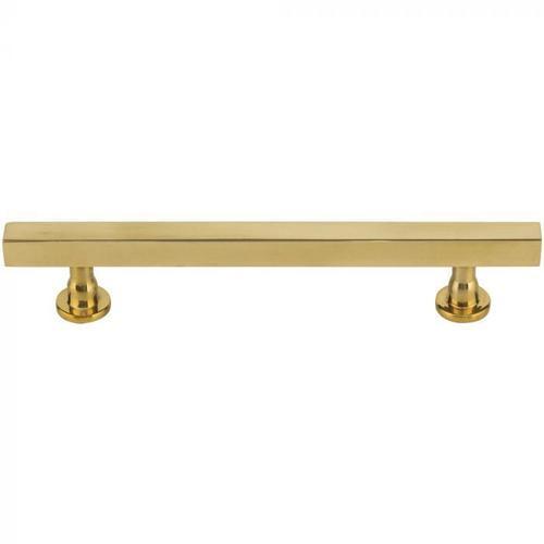 Vesta Fine Hardware - Dante Pull 5 1/16 Inch (c-c) Unlacquered Brass Unlacquered Brass