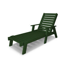Green Captain Chaise with Arms