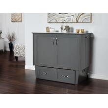 See Details - Madison Murphy Bed Chest Twin Atlantic Grey with Charging Station