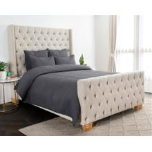 Danica Charcoal 3Pc Queen Quilt Set