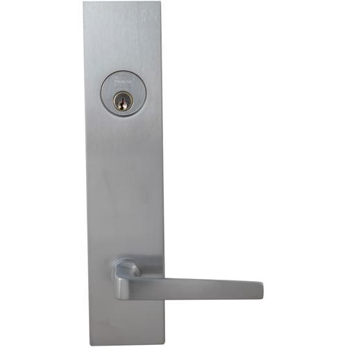 Product Image - Exterior Modern Deadbolt Entrance Lever Lockset in (US26D Satin Chrome Plated)