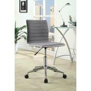 Modern Grey and Chrome Home Office Chair Product Image