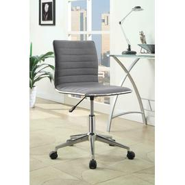 See Details - Modern Grey and Chrome Home Office Chair