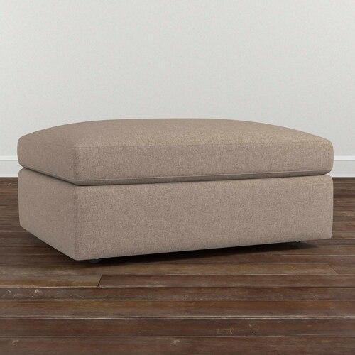 Cooper Storage Ottoman, Arm Style Scoop