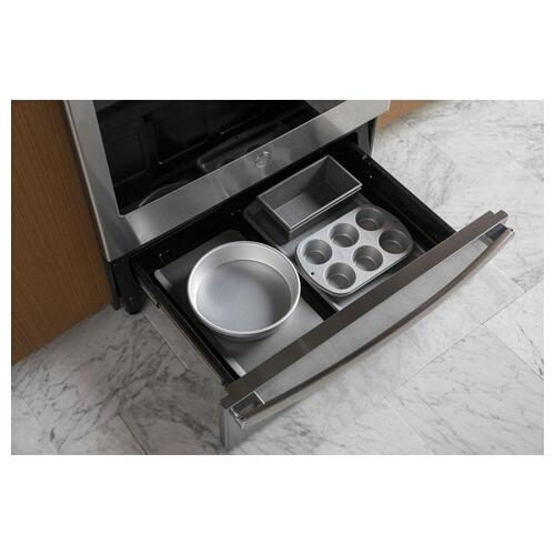 """GE Profile - GE Profile™ 30"""" Smart Slide-In Front-Control Induction and Convection Range"""