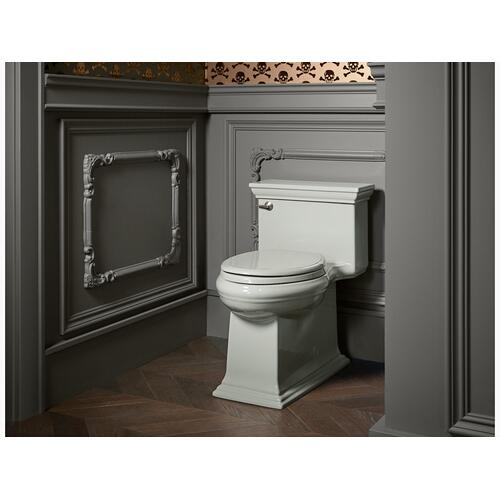 Black Black One-piece Compact Elongated 1.28 Gpf Chair Height Toilet With Quiet-close Seat